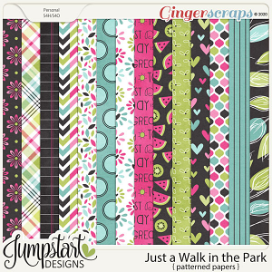 Just a Walk in the Park {Patterned Papers} by Jumpstart Designs