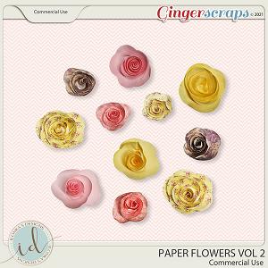 CU Paper Flowers Vol 2 by Ilonka's Designs
