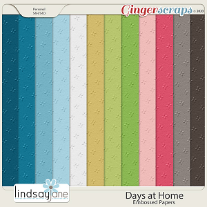 Days at Home Embossed Papers by Lindsay Jane