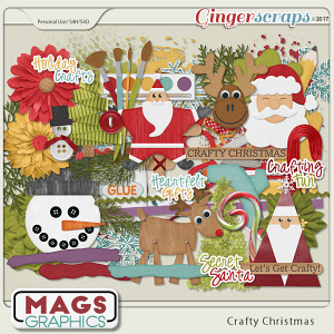 Crafty Christmas ELEMENTS by MagsGraphics