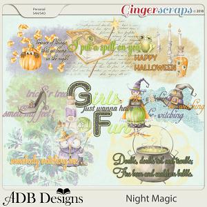 Night Magic Word Art by ADB Designs