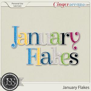 January Flakes Alphabets