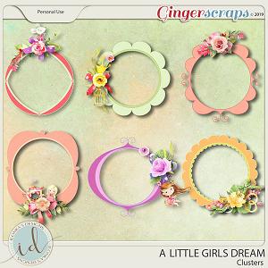A Little Girls Dream Clusters by Ilonka's Designs