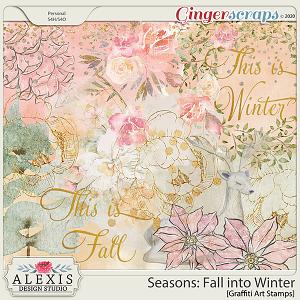 Seasons: Fall into Winter - Graffiti Art Stamps