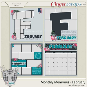 Monthly Memories - February by Dear Friends Designs by Trina