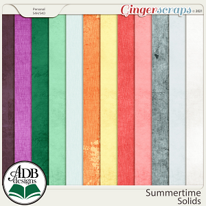 Summertime Solid Papers by ADB Designs