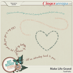 Make Life Grand Text Paths by JB Studio