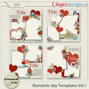 Romantic day Templates Vol.1