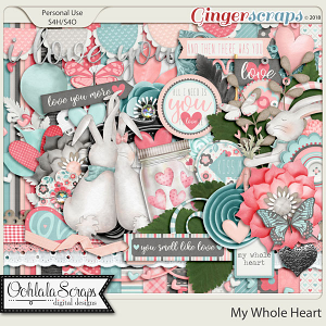 My Whole Heart Digital Scrapbook Kit