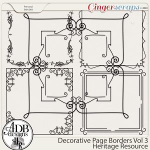 Heritage Resource Decorative Page Borders Vol 03 by ADB Designs