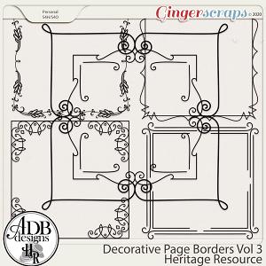 Heritage Resource Decorative Page Borders Vol 03 by ADB Designs