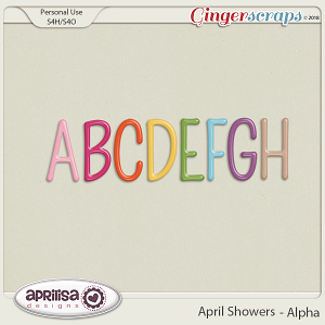 April Showers - Alpha by Aprilisa Designs