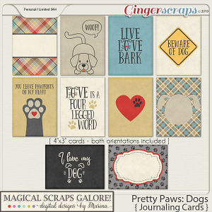 Pretty Paws: Dogs (journaling cards)