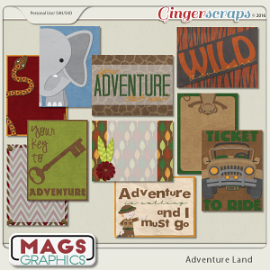 Adventure Land JOURNAL CARDS