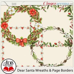 Dear Santa Wreaths and Page Borders by ADB Designs