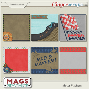 Motor Mayhem JOURNAL CARDS
