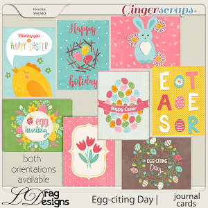 Egg-citing Day:Journal Cards by LDragDesigns