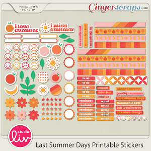 Last Summer Days Printable Stickers by Studio Liv