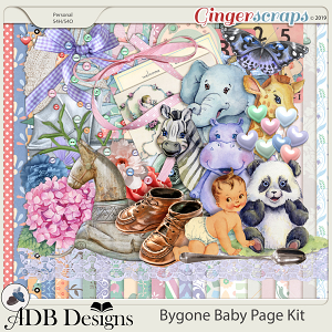 Bygone Baby Page Kit by ADB Designs