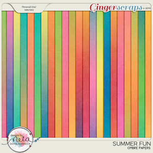 Summer Fun - Ombre Papers - by Neia Scraps