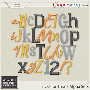 Tricks for Treats Alpha Sets by Aimee Harrison