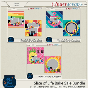 Slice of Life: Bundle by Miss Fish Templates