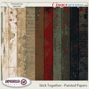 Stick Together - Painted Papers by Aprilisa Designs