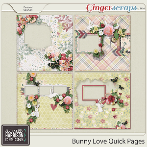 Bunny Love Quickpages by Aimee Harrison