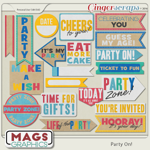 Party On WORD BITS by MagsGraphics