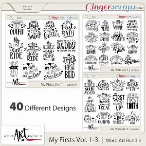 My Firsts Vol 1-3 Word Art Bundle