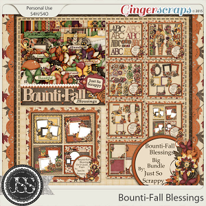 Bounti-Fall Blessings Digital Scrapbooking Bundle