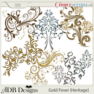 Gold Fever Heritage Flourishes by ADB Designs