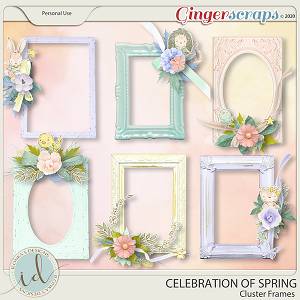 Celebration Of Spring Cluster Frames by Ilonka's Designs