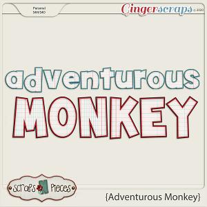 Adventurous Monkey alpha by Scraps N Pieces