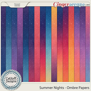 Summer Nights - Ombre Papers by CathyK Designs