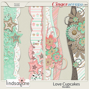 Love Cupcakes Borders by Lindsay Jane