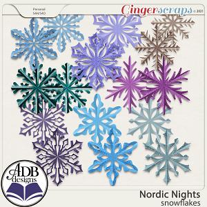 Nordic Nights Snowflakes by ADB Designs