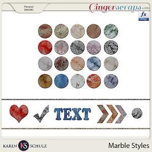 Marble Styles by Karen Schulz