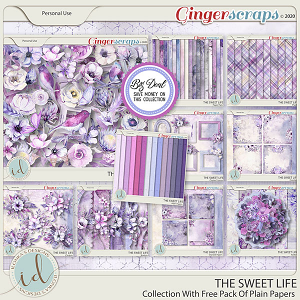 The Sweet Life Collection With Free Pack Of Plain Papers by Ilonka's Designs