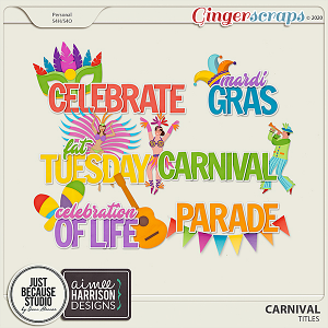 Carnival Messy Titles by JB Studio and Aimee Harrison Designs