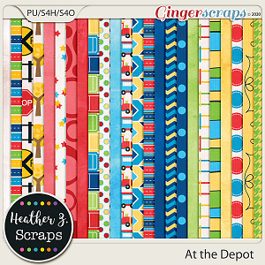 At the Depot PAPERS by Heather Z Scraps