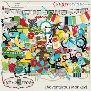 Adventurous Monkey Embellishments by Scraps N Pieces