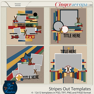 Stripes Out Templates by Miss Fish