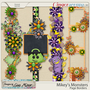Mikey's Monsters Page Borders from Designs by Lisa Minor