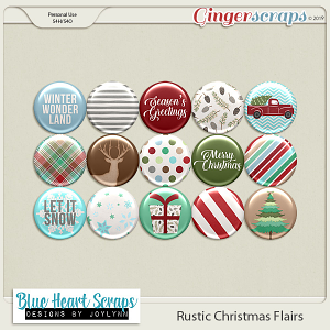 Rustic Christmas Flairs
