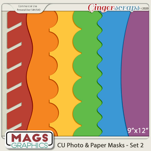 CU Photo & Paper PNG Masks Set 2 by MagsGraphics