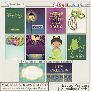 Bayou Princess (journaling cards)