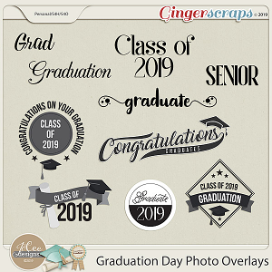 Graduation Day Photo Overlays by JoCee Designs