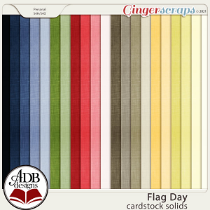 Flag Day Solid Papers by ADB Designs