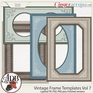Heritage Resource - Vintage Frame Templates Vol. 07 by ADB Designs
